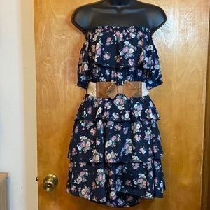 Rue 21 strapless floral tiered dress